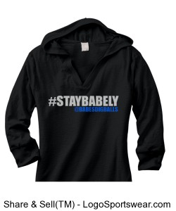 BABES DIG BALLS -- LIGHT WEIGHT 3/4 HOODY -- BLACK/WHITE/BLUE Design Zoom
